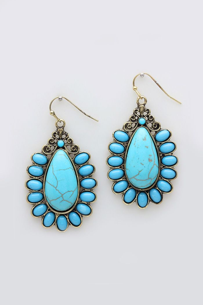 Claire Earrings in Howlite