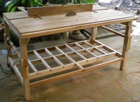 Created by: DIASESWIN   Meja gergaji sangat diperlukan untuk mempercepat pekerjaan dengan tingkat akurasi yang lebih baik. Meja gergaji ruma...