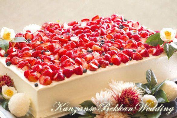 ♡ wedding cake*シンプル苺ケーキ ♡ の画像|♡Les jours heureux les♡