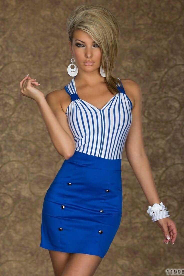 Rochie LovelyStripe Blue >> Click pe poza pentru a vedea pretul. #rochii #rochiideseara #fashion #dress #rochiideocazie