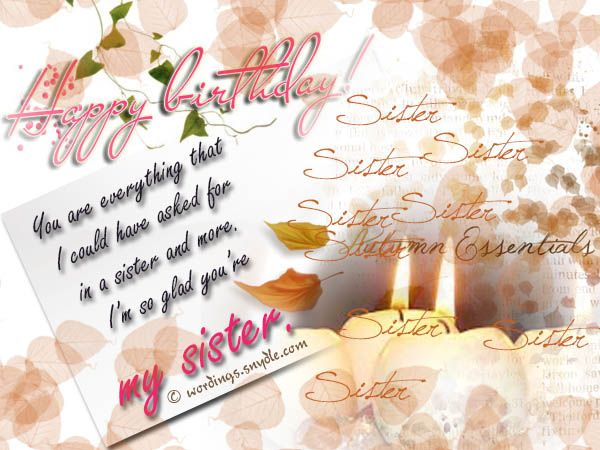 Best 25 Sister birthday message ideas – Birthday Card Message for Sister