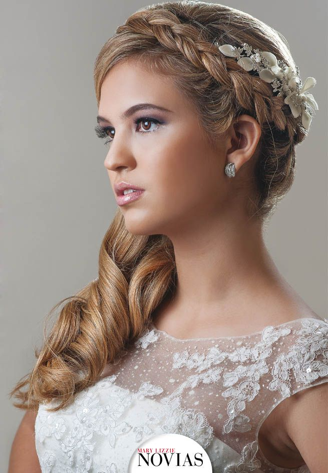 Peinados Matrimonio, Peinados De Novia, Peinados De Fiesta, Peinado Novia,  Tocados Novia, Vestidos, Boda, Cabello, Por