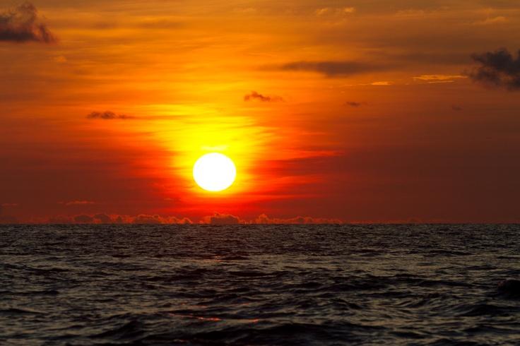 Nothing like a equatorial sunset at Resort Latitude Zero.