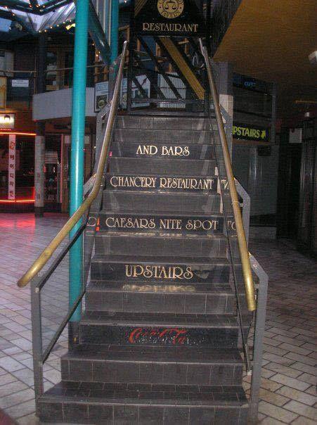 Chancery Restaurant Stairs, Christchurch, New Zealand