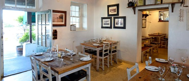 Dining indoors at Ons Huisie http://onshuisie.co.za/
