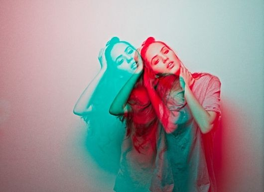 Double exposure, color.