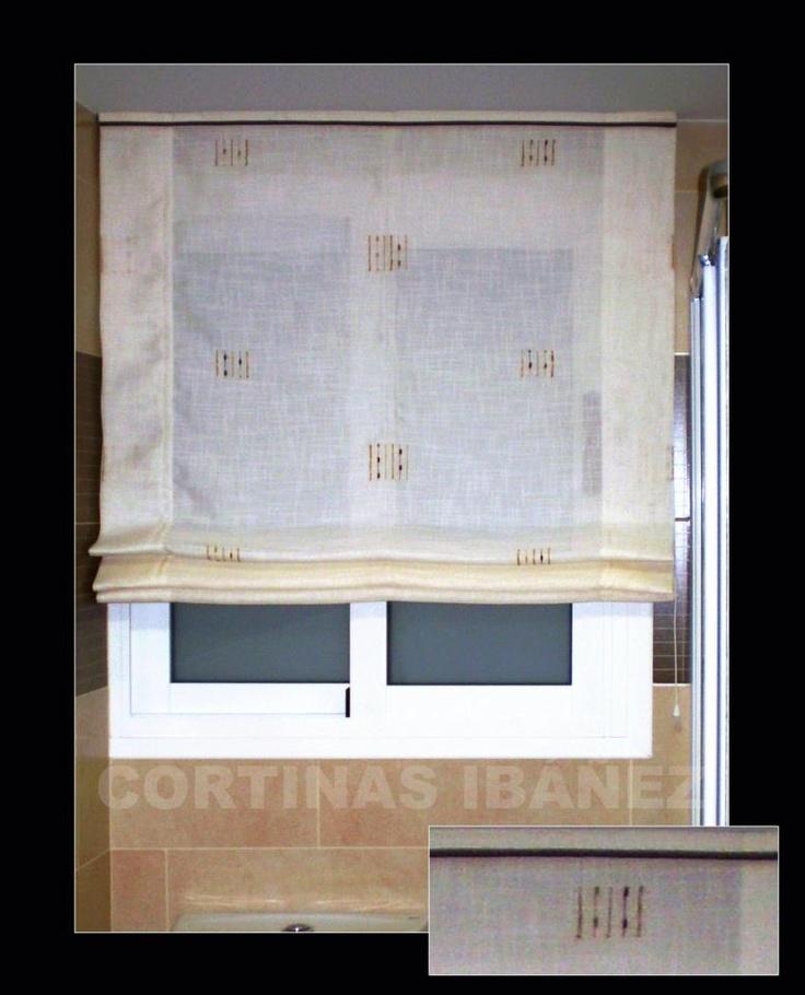Modelo cortina estor paqueto tambi n llamado paquetto - Estores de lino ...
