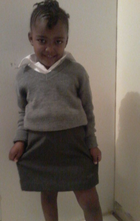 July-Aan was such a princess on her first day of school.