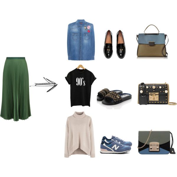 1 by shkolashopinga on Polyvore featuring мода, 7 For All Mankind, Vanessa Bruno, Chanel, H&M, New Balance, Furla and Gucci