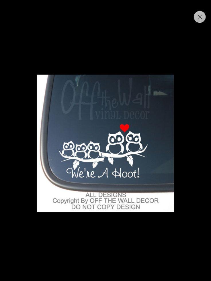 Download Cute owls!! Owl family | Car decals vinyl, Owl family, Car ...