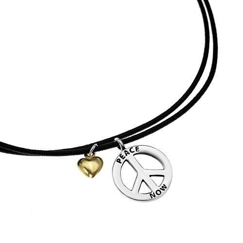 Sterling Silver Charm Peace Love Sign with Dangling Heart Rubber Cord Charm Bracelet 7''-9'' Chuvora. $14.99. Charm Size: 1.3 x 1.3 cm. Bracelet Length: 7''-9'' (2'' extension chain). Packaging: Black Velvet Pouch. Mark .925 Sterling Silver. Weight: 2.8 g. Save 63% Off!