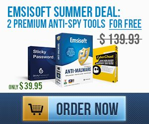 Emsisoft Anti-Malware + CyberGhost VPN Premium + Sticky Password PRO for incredible $39.95 instead of $139.93!