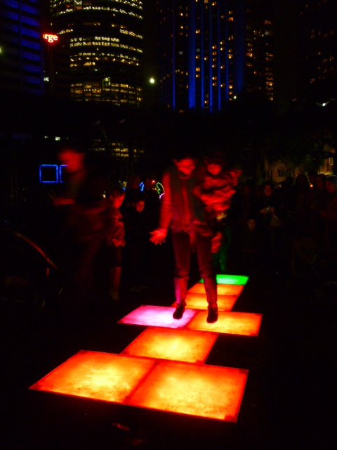 Hopscotch at Circular Quay #Sydney #vividsydney #Australia #travel Everyone can try http://ow.ly/VYex