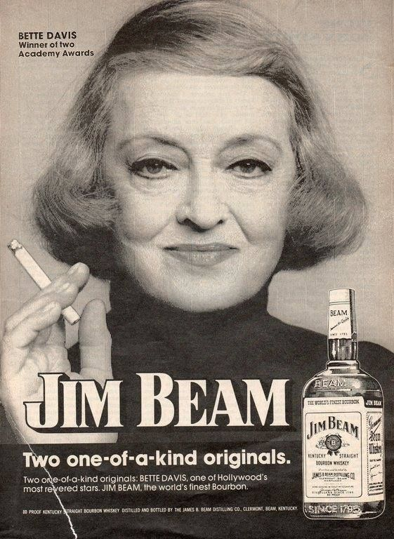 Bette Davis & JIM BEAM.