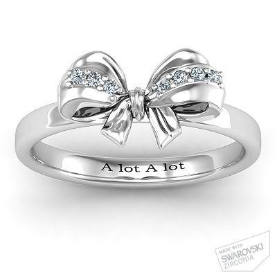 Fancy Stone Set Bow Ring (designed it!) omg I want!!