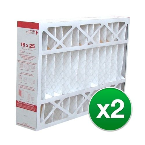 Replacement Pleated Air Filter for For Honeywell CF200A1008 Furnace 16 x 25 x 4 Merv 11 (2 Pack), Grey smoke