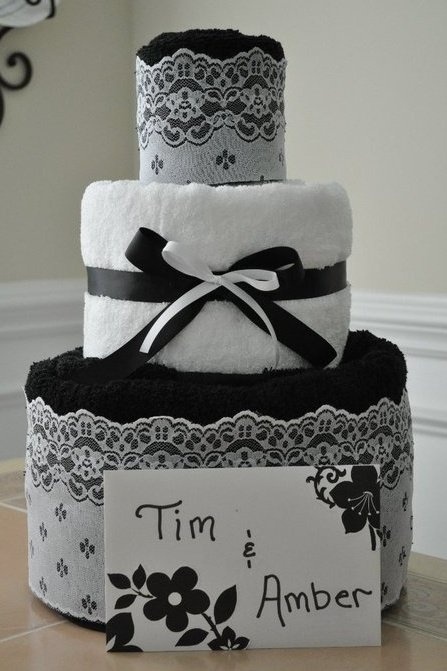towel cake by hunni bunni bowtique on fb