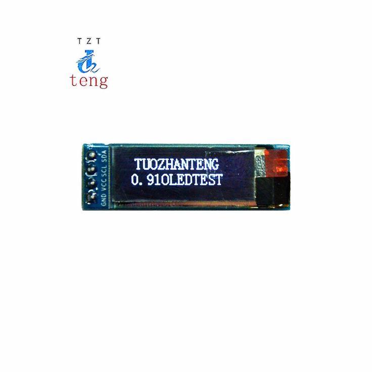 """1 قطع 0.91 بوصة oled وحدة 0.91 """"الأبيض oled 128x32 oled lcd led وحدة العرض 0.91"""" iic التواصل"""