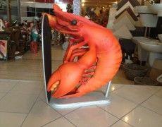 Lobster Menu Sculpture Small