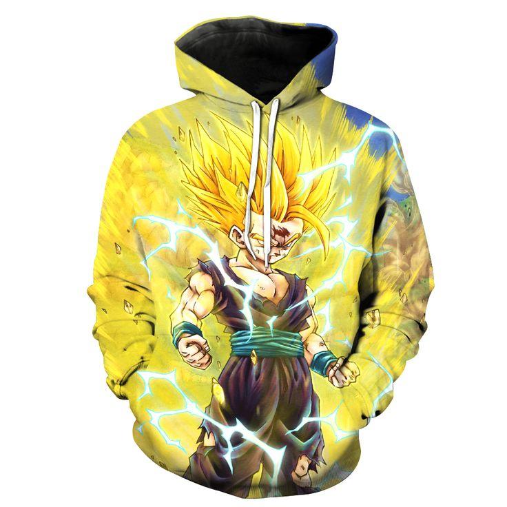 2017 New Fashion Men's 3D sweatshirt Dragon Ball Pattern hooded hoodies fashion clothes coat pocket s to 6xl Free shipping - free shipping worldwide