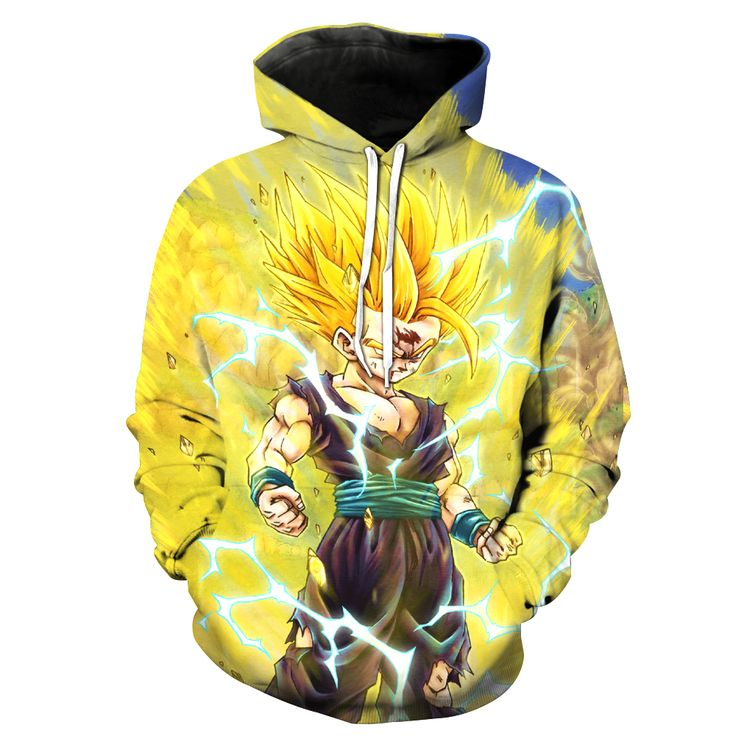 2017 New Fashion Men's 3D sweatshirt Dragon Ball Pattern hooded hoodies fashion clothes coat pocket s to 6xl Free shipping - free shipping worldwide