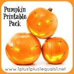 Pumpkin Printable Pack with lots of preschool activities