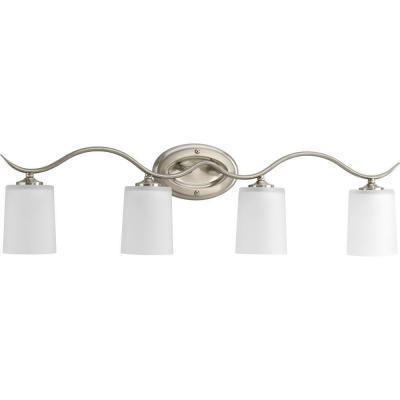 Progress Lighting Inspire Collection 4-Light Brushed Nickel Vanity Fixture-P2021-09 - The Home Depot