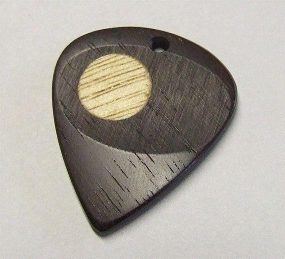 Brazilian Ebony Exotic Wood Handcrafted Premium Guitar Pick