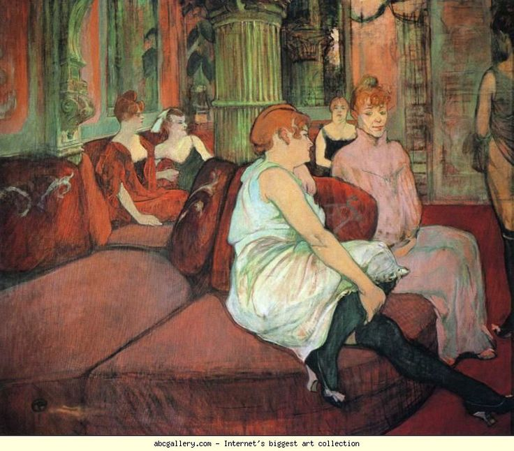 henri de toulouse lautrec au salon de la rue des moulins indivindualized prostitutes awaiting. Black Bedroom Furniture Sets. Home Design Ideas
