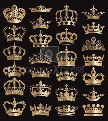 crown heraldry blazonry stock photo