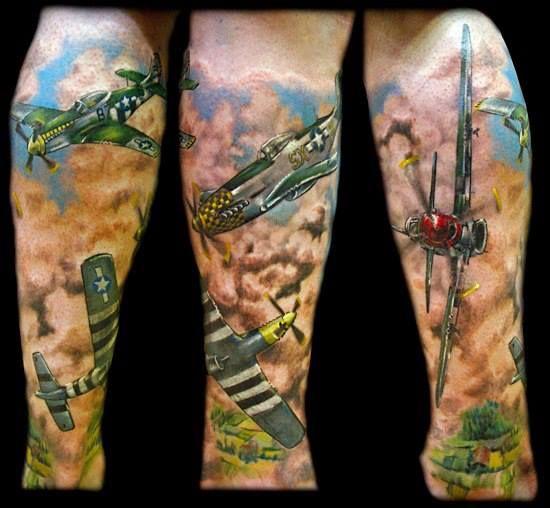 Flying jet tattoo by oliver jerrold tattoo tattoos for Jet life tattoo