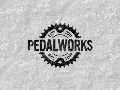 pedalworks logo 20 Stylish Retro Logos | Inspiration