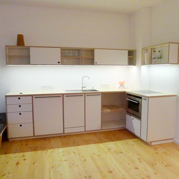 offene wohnk che in wei ella wei upf m bel. Black Bedroom Furniture Sets. Home Design Ideas