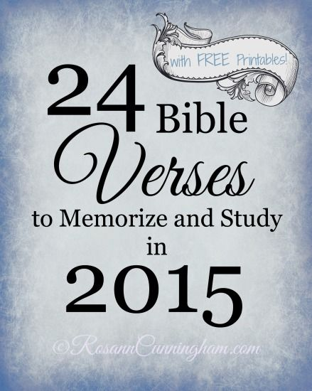 You may recall around this time last year I published one of my very first blog posts on this site, 24 Bible Verses to Memorize and Study in 2014. Did you make it all the way through? I have to admit, I made it about halfway and then life sort of fell apart and got all crazy and I lost steam. I truly believe that any scripture study and memorization is valuable, so I'm taking it as a win anyway. And guess what? I've created a fresh new version for 2015! Yay! 24 Bible Verses to Memorize and…