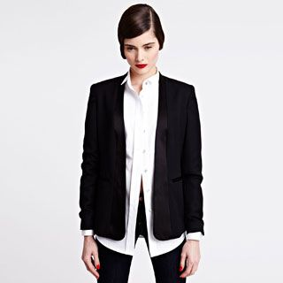 Classic #evening attire has been playfully transformed into intricately detailed, sophisticated #womenswear with the Enid #tux jacket. #Eveningwear #AutumnWinter2013 #ThomasPink