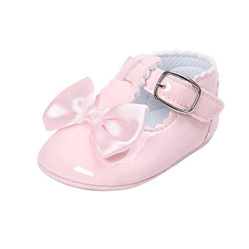 Oferta: 1.91€. Comprar Ofertas de Primeros zapatos para caminar,Auxma Zapatos de bebé, Zapatos antideslizantes del Bowknot de los bebés (11cm(0-6M), Rosado) barato. ¡Mira las ofertas!