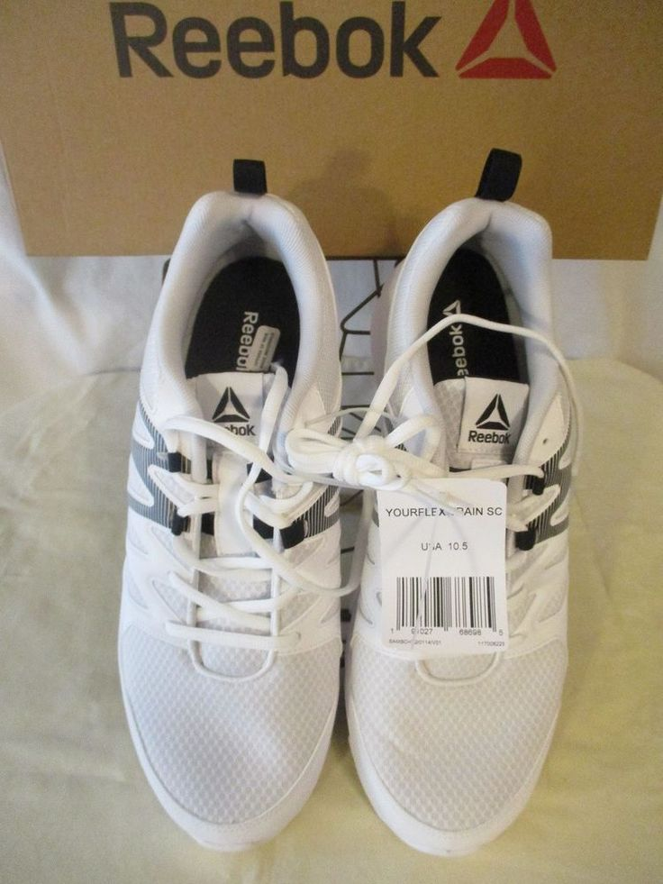 Reebok Synthetic White / Black Your Flex Train Athletic Shoes SR$55 NEW #Reebok #AthleticSneakers
