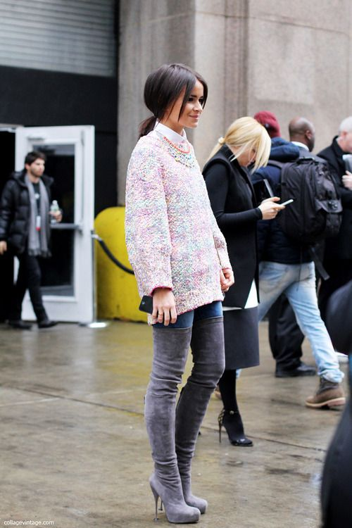 Miroslava Duma - obsessed with the boots! #fashion #style #streetstyle