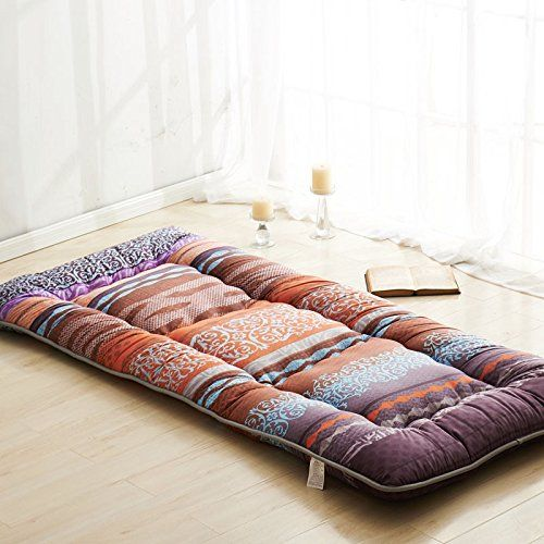 Fashion Colour Brown Futon Tatami Mat Japanese Futon Matt...