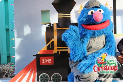 See Conductor Grover and ride the Sesame Place Furry Express!