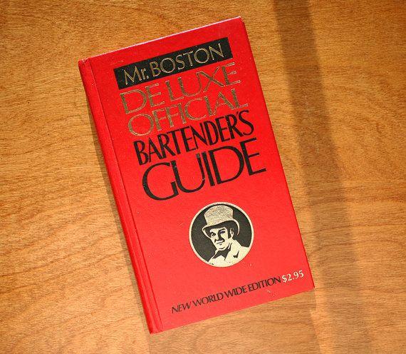 Mr. Boston Bartenders Guide - Vintage Mr. Boston - Deluxe Official Bartender's Guide