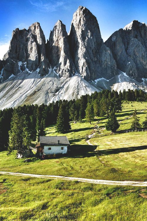 Dolomites, ItalyThe nothern part of Italie! A place where there is high to heaven and the air is clean. You must try it. Find a little village and a litlle hotel, where you can have a good chat with the owner abouth the area. And get a very good dinner.