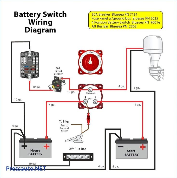 24 Volt Battery Wiring Diagram Download In 2020 Boat Wiring Boat Battery Pontoon Boat