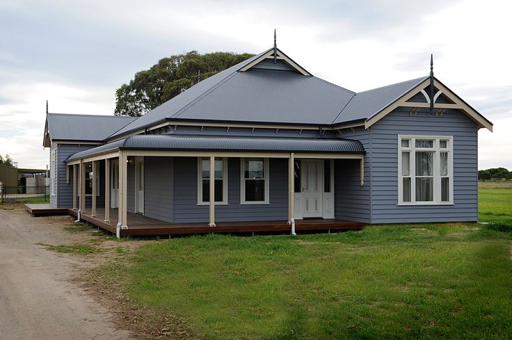 Goolwa. My favourite details here are the chamfered verandah posts, the ornamental 1/2 post that attaches the verandah to the house & the 1/2 bullnose verandah. These are the details we want (Adam likes the lack of frilly brackets and railings).