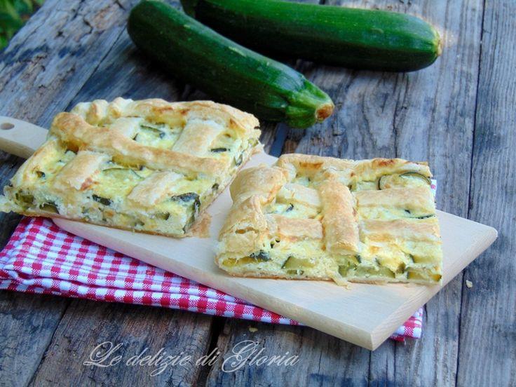 Torta salata con zucchine e stracchino