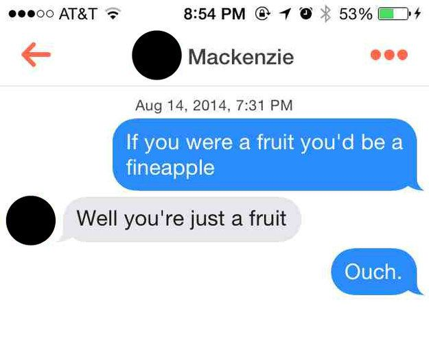 This fruit-based situation. | 19 Times Tinder Users Got Brutally Shot Down