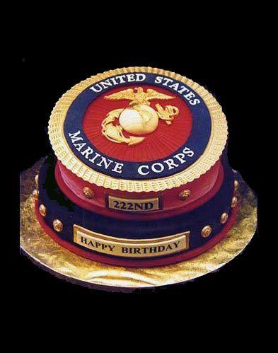 Motivated Marine Corps Birthday Cake