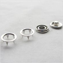 10 sets Open Ring Snap Press Fastener Buttons Sewing Tools Clothing Accessories Iron Material(China (Mainland))