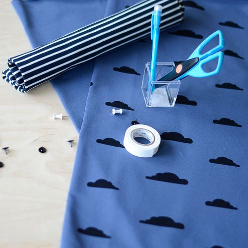 1x1 Stripe Rib, Navy - Vanilla | NOSH Autumn & Winter 2016 Fabric Collection is now available at en.nosh.fi | NOSH syksyn 2016 uutuuskankaat saatavilla verkosta nosh.fi