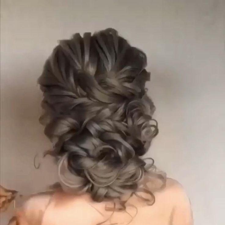 Wedding Hairstyle Vedio In 2020 Easy Hairstyles Hair Styles Hair Tutorial